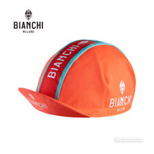 Made in Italy! Bianchi Milano NEON Celeste Tricolore Stripe Cycling Cap