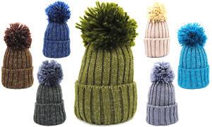 Caricamento dell immagine in corso Berretto-cappello-donna-cappelli -invernali-in-maglia-con- eae0bba22146