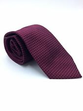 $95 CLUB ROOM Men`s WHITE RED CHECK DOT DRESS NECK TIE CASUAL  NECKTIE 59x3.25