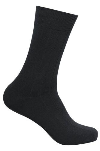 Men/'s Combed Cotton Classic Ribbed Socks Premium Italian quality Pack of 5