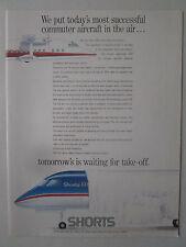 1/1989 PUB SHORT BROTHERS SHORTS 360 FJX COMMUTER AIRCRAFT ORIGINAL AD