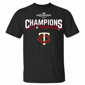 Men Navy Minnesota Twins 2019 AL Central Division Champ T-Shirt