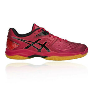 Details about Asics Mens Blast FF Indoor Court Shoes Red Sports Squash Badminton Breathable