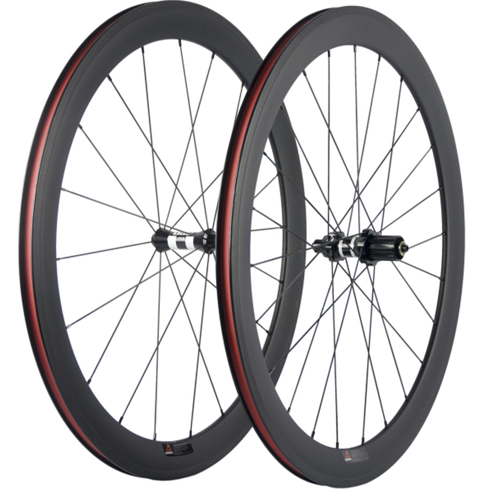 Carbon Wheel Set UD Matte 50mm Carbon Road Wheelset Clincher DT Hub Bikw Wheels