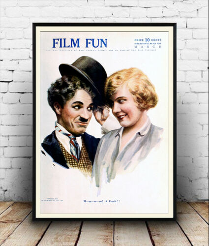 Film Fun Cover 1916 03 vintage Film Magazine cover poster reproduction.
