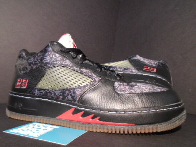 2008 Nike Air JORDAN FORCE AJF V 5 Low Retro Noir rouge blanc BRED 325331-001 9.5