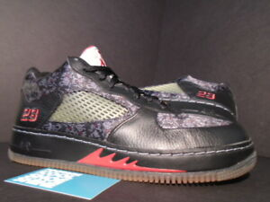 purchase cheap 962d4 c5004 Details about 2008 NIKE AIR JORDAN FORCE AJF V 5 Low Retro BLACK RED WHITE  BRED 325331-001 9.5