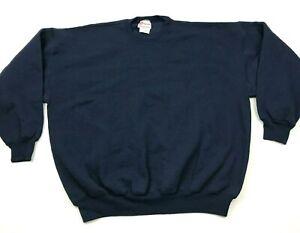 VINTAGE-Hanes-Sweater-Men-Size-2XL-XXL-Dark-Blue-Long-Sleeve-Crewneck-Sweatshirt