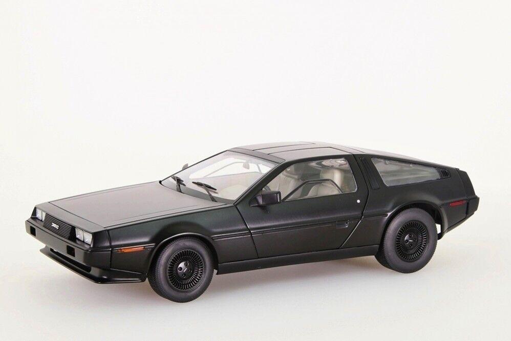 DeLorean dmc-12 1981 Noir Mat Autoart 1 18 Nouveau Neuf dans sa boîte