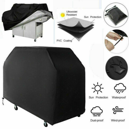 BBQ Cover Waterproof Garden Heavy Duty Barbecue Burner Grill Cover 145*61*117cm