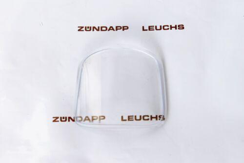 Zündapp Tacho Plastik Glas Scheibe eckiger VDO Tacho C 50 Sport typ 517