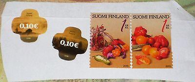 Tomatoes Hiekkala Finland Gemüse Gemüse Soumi Und Ein Langes Leben Haben. Europa Finnland Briefmarken Finnland 2015 Chilli