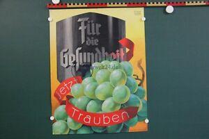 altes-Plakat-um-1930-Fuer-die-Gesundheit-jetzt-Trauben-C-zur-Linde-Hamburg