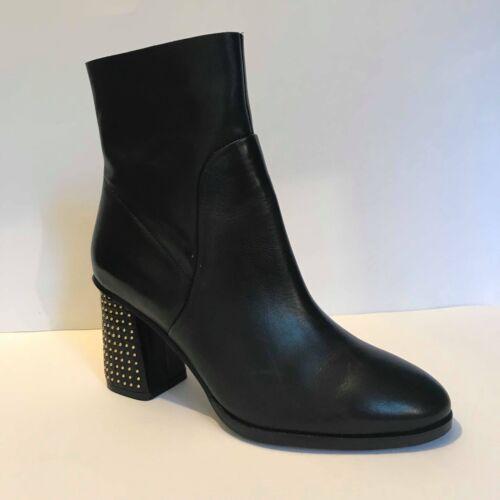 Boots Low Studded Next Ankle Uk 6 Leather Plain Gold 39 Heel Black Eu Block qAAXzwRW
