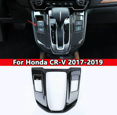 For 2017-2019 Honda CRV Carbon Fiber Style Interior Gear Shift Knob Cover Trim