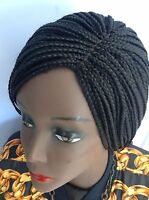 20 Handmade Black Braided Wig Made With Premium Synthetic Hair.