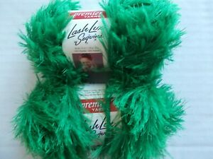 Premier Lash Lux Sequins eyelash yarn lot of 2 34 yds each red Fire