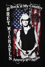 Bret Michaels Roses and Thorns Tour Shirt Size L American Outlaw