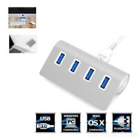 Usb 3.0 Hub 4 Port Splitter Charging Aluminum, Fits Most Computer Accessories