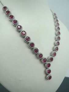 Turkish-Handmade-Jewelry-925-Sterling-Silver-Ruby-Stone-Women-Necklace