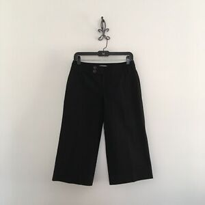 Banana-Republic-Women-039-s-Black-Capris-Pants-Size-2