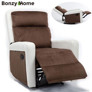 Recliner-Chair-Overstuffed-Suede-Fabric-Sofa-with-PU-Armrest-for-Living-Room