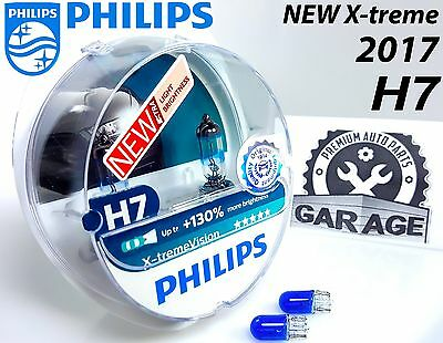 NEW H7 Philips Xtreme Vision +130% Car Halogen Light Bulbs 12V 55W + Blue W5W