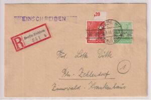 Bizone/Band Network Print, MI. 51I, 38I and others, R-Berlin-Dahlem 9.9.48