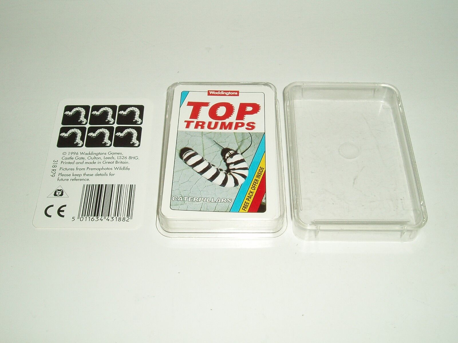 Rare Vintage Super Top Trumps  Caterpillars  by Waddingtons. (Mint Cond)1996.