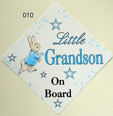 PERSONALISED Blue /& Yellow  FUNKY MUMMYS LITTLE BOY  Baby on Board Window Sign