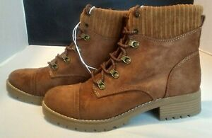 Women's Danica Microsuede Lace-Up Boots