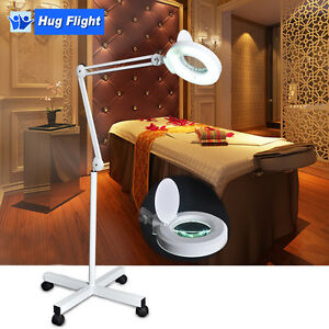 New-Magnifying-Lamp-Glass-Lens-Magnifier-Round-Head-on-Stand-5D-Beauty-Salon-Spa