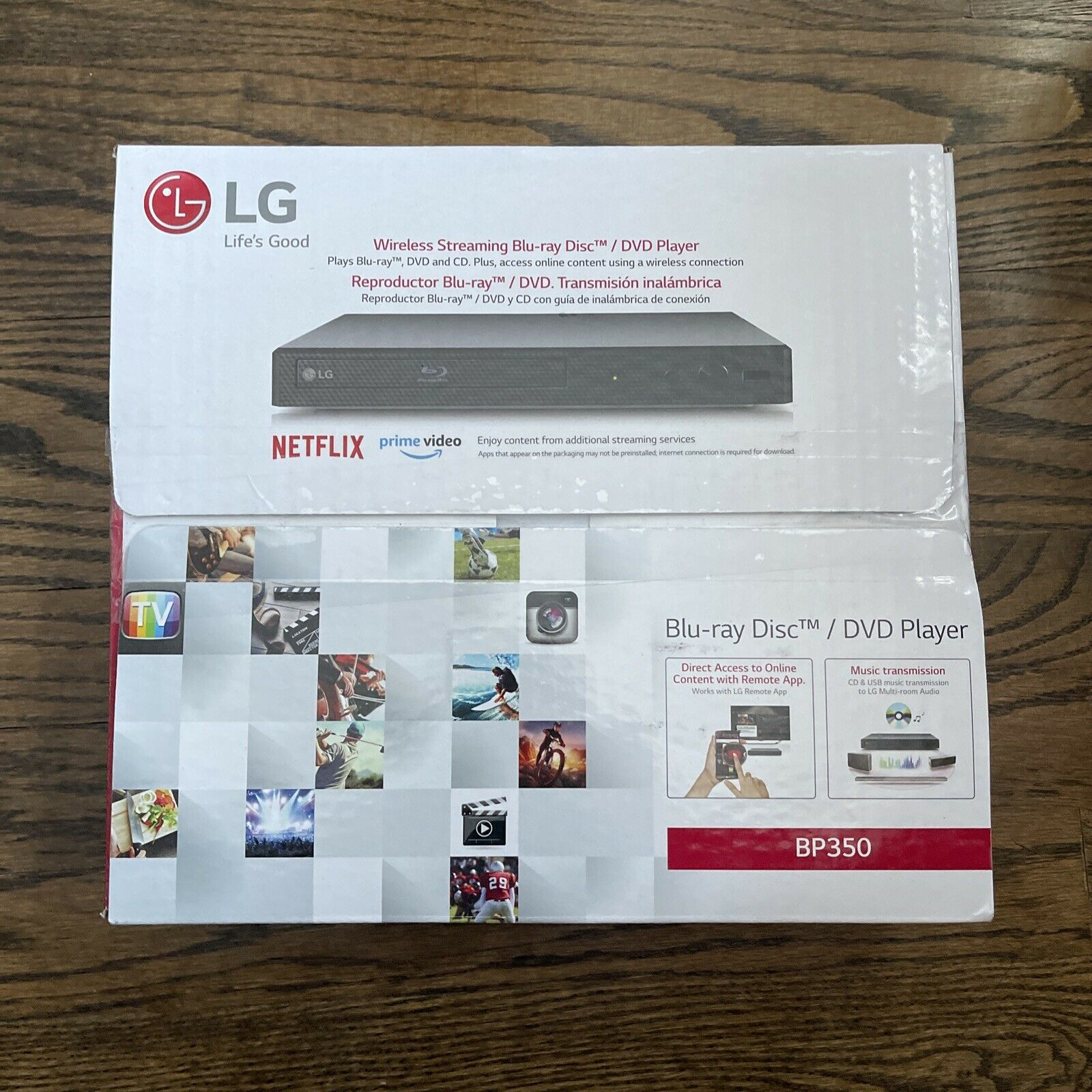LG | BP350 | Smart Blu Ray DVD Player with Built-In WiFi & Streaming Services blu bp350 dvd player ray services smart streaming wifi with