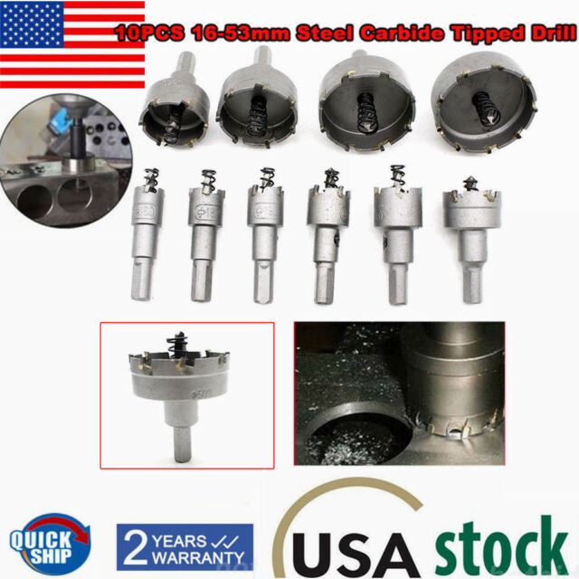 19mm Hole Saw Carbide Tip Tool Stainless Steel Drill Bit Metal Cutter Kit