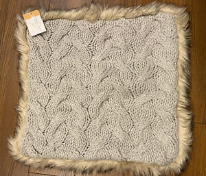 """20x20/"""" Free Shipping Pottery Barn Faux Fur Knitted Pillow Cover"""