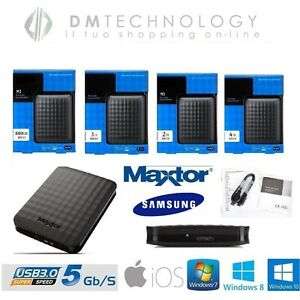 HARD-DISK-ESTERNO-2-5-034-500GB-1TB-2TB-4TB-MAXTOR-SAMSUNG-3-0-SLIM-AUTOALIMENTATO