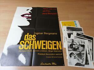 Kinoplakat + 23 AHF : Das Schweigen ( Ingmar Berman) .Z 0-1