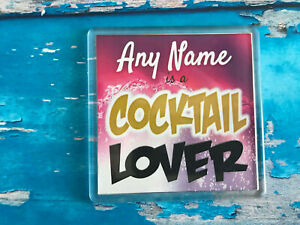 Cocktail-Lover-Personalised-Coaster-Drink-Coaster-Add-Name-Beer-Mat