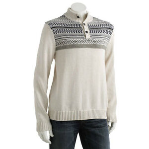 Chaps Fairisle Lauren By Col Ralph Mao Homme Pull Taille Msrp75 Beige Lxxl WEH2eD9IbY