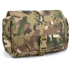 HIGHLANDER MENS WASH KIT BAG TRAVEL TOILETRY BAG MILITARY SURPLUS ARMY