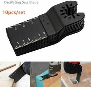 10PCS 34mm Oscillating Multi Tool Saw Blades Carbon Steel Cutter DIY Universal