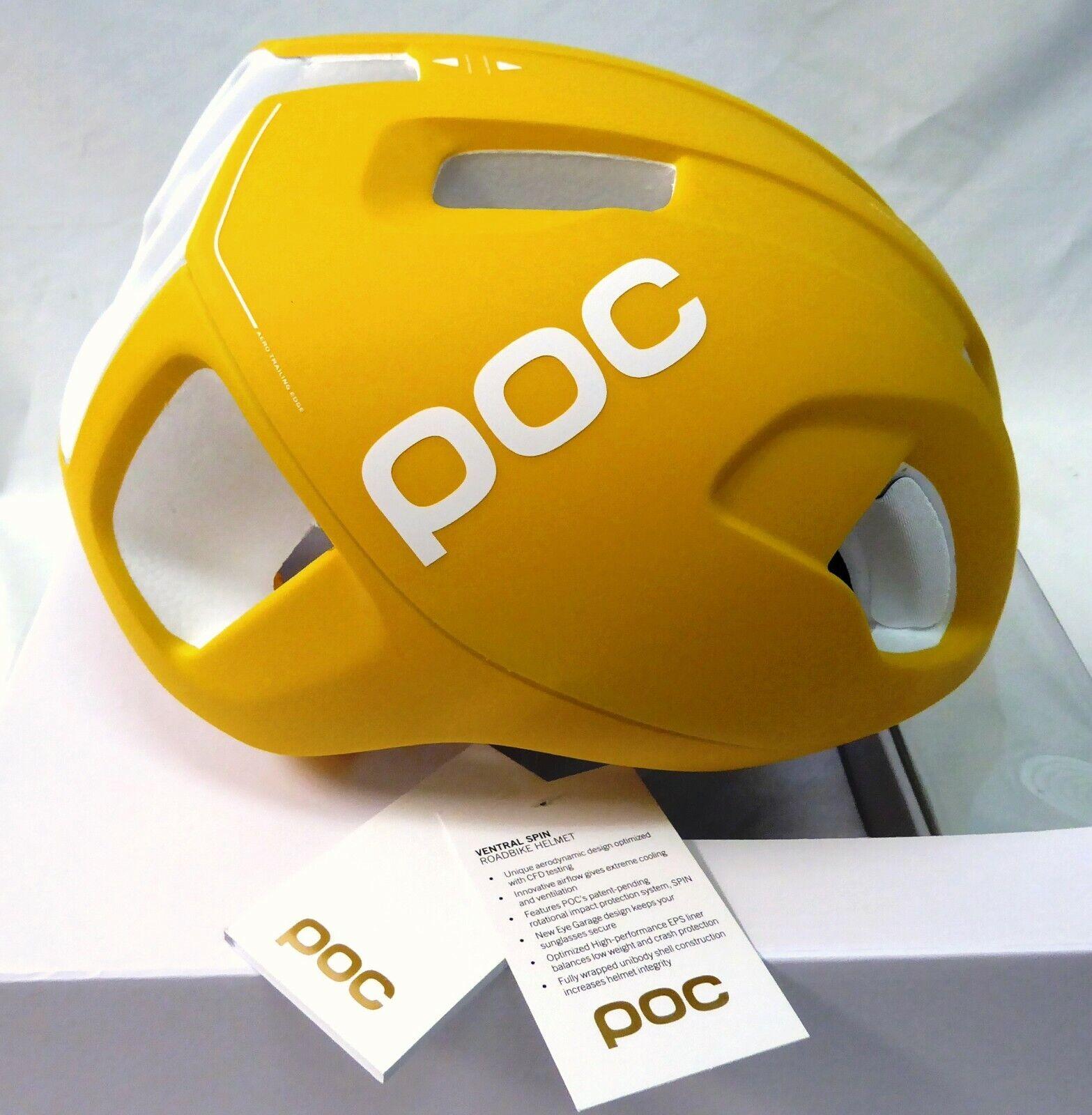 POC Ventral SPIN Helmet Sulphite Yellow  Medium  gorgeous