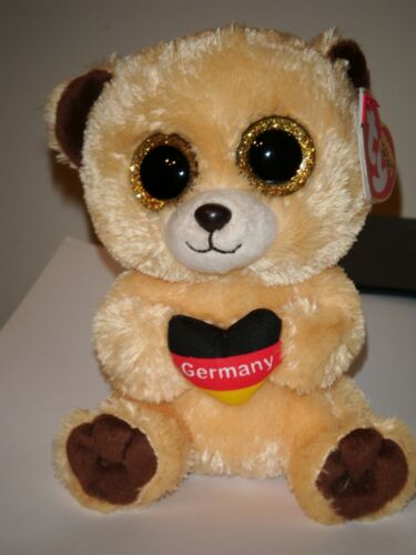 6 Inch Germany Exclusive Ty Beanie Boos ~ GERMANY the Bear NEW MWMT