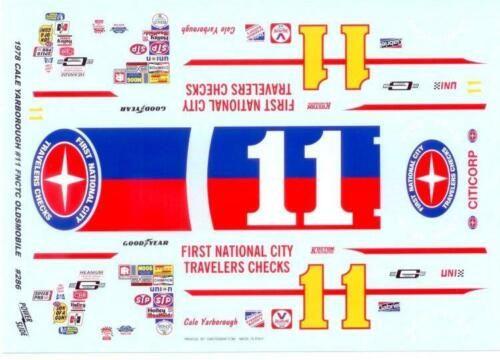 Powerslide 286 #11 First National City Travelers Checks 1978  Nascar decal