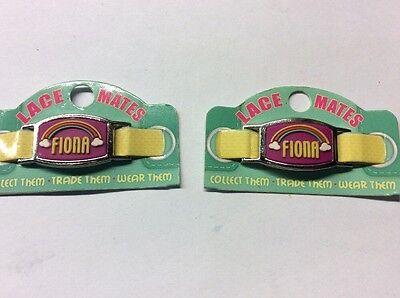 """Fiona In Pizzo Mates """"fiona"""" X 2 (scarpa O Bracciale Charm) Partito Favori Spedizione Gratuita-mostra Il Titolo Originale"""