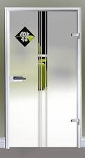 Ganzglastür Drehtür Glas Zimmer Tür Glastür Siebdruck 834 x 1972 mm M1834SSL