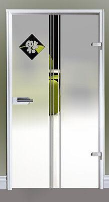 Glastür Drehtür Glas Tür Siebdruck 834 x 1972 mm M1834SSR