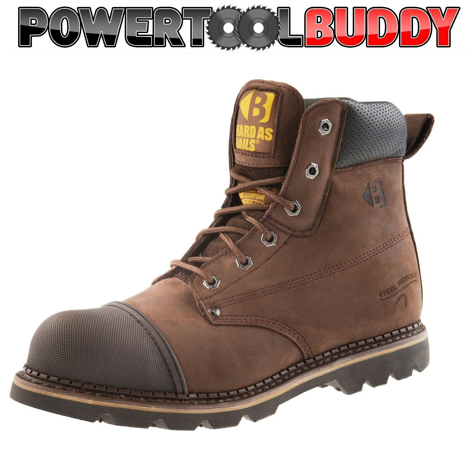 Buckler B301SM Hard As Nails Chocolate Oil Leather safety boot Size 6 - 13