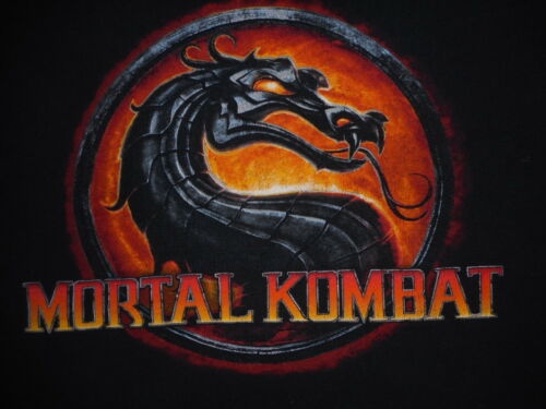 Mortal Kombat Video Game Gamer shirt Black preowne
