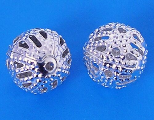 200 Silver Plated 6mm 8mm Filigree Beads Jewellery Making